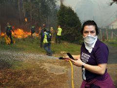 Contra el fuego en Rianxo