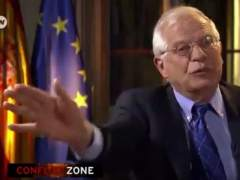 Entrevista de la televisión alemana a Josep Borrell