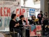 Antonia Raya, Núria Villanueva y Iñaki Garcia en la Capilla de la Misericordia.