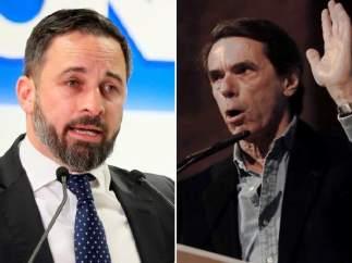 Santiago Abascal y José María Aznar