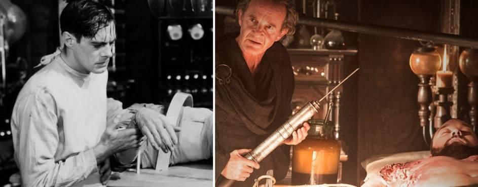 El doctor Frankenstein (1931) y Juego de tronos