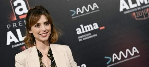 La actriz, en la primera edición de los Premios del Sindicato de Guionistas.