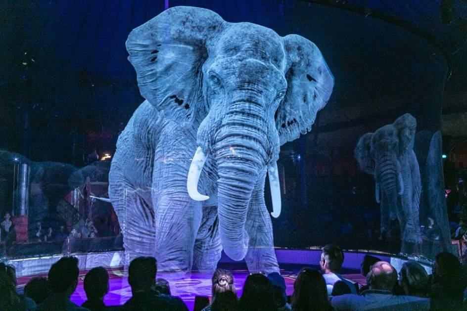 Los hologramas, una alternativa a los circos sin animales: así es el Circus Roncalli de Alemania