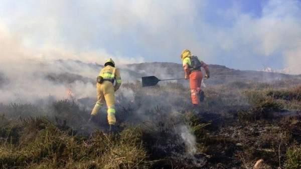 Cantabria registra un único incendio, que lleva activo desde el martes y está en
