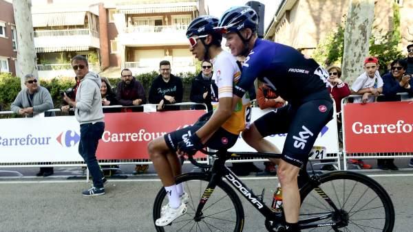 Chris Froome y Egan Bernal