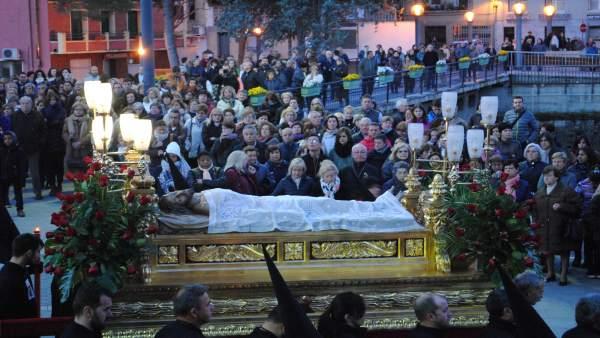 Barbastro celebra este domingo una procesión extraordinaria con el Paso del Sant