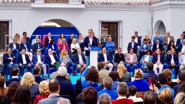 Málaga.- Bendodo destaca 'la marca PP' como garantía de gestión y avance para lo