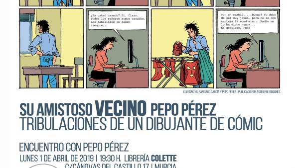 [Comunicacionumu] Las Tribulaciones Del Dibujante De Cómic Pepo Pérez En La Univ