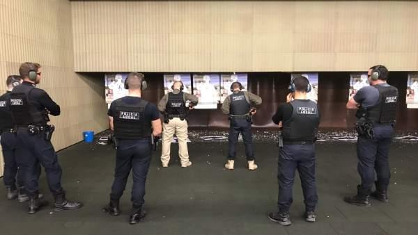 Policías de Sant Antoni realizarán sus prácticas en la galería de tiro de Calvià