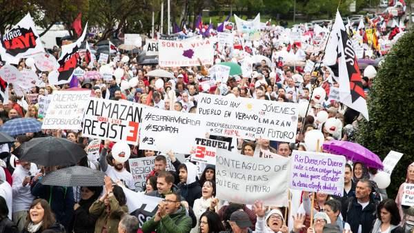 Manifestación de la 'España vaciada'