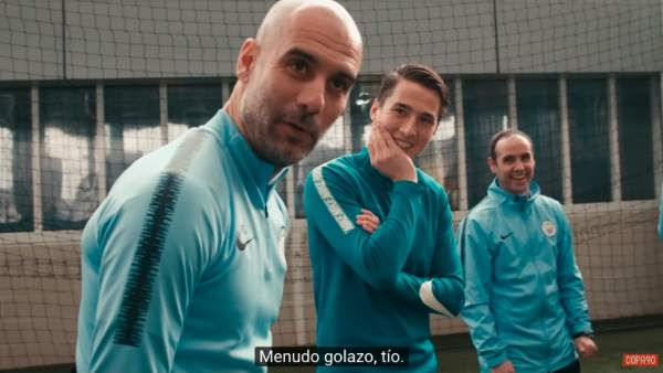 Guardiola ayuda al Kitchener's Taverners FC.
