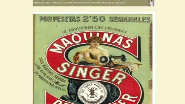 Cultura.- Un anuncio de 1912 de máquinas de coser Singer, lo más visto en Pinter