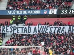 Protesta en el Wanda Metropolitano