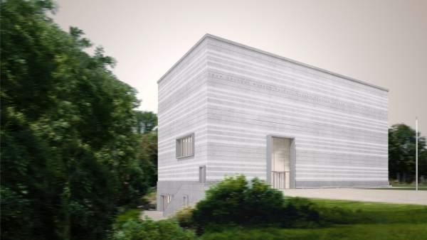 Exterior del nuevo museo de la Bauhaus en Weimar