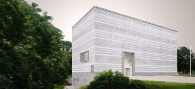 Exterior del nuevo Museo de la Bauhaus en Weimar.