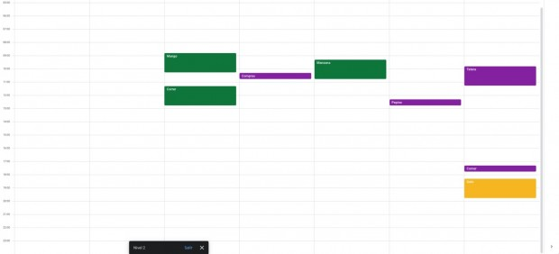 Space Invaders en Google Calendar