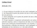 Articulo 143 del Código Penal