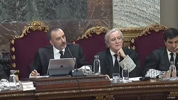 El juez Marchena y los magistrados del juicio al procés en el Supremo