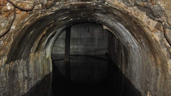 imagen del túnel en el interior del Raval.