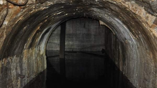 Imagen de un túnel del metro de Nou de la Rambla, en Barcelona.