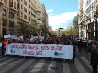 Una manifestación recorre las calles de València para exigir a Europa 'respeto'