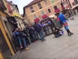 Enfrentamientos en León