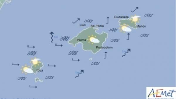 Predicción meteorológica para este lunes 8  de abril de marzo en Baleares: