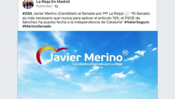 La Junta Electoral declara ilegal la campaña del PP 'La Rioja en Madrid' y acuer