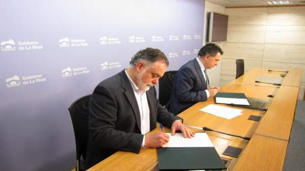 Renovado la colaboración del Gobierno con la Federación Riojana de Municipios pa