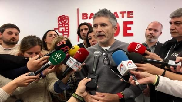 Marlaska dice que la intención del PP de aplicar el 155 en Cataluña es 'una solu