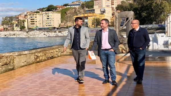 Málaga.- 28A.- Díaz (Cs) plantea una 'apuesta firme' para los Baños del Carmen y