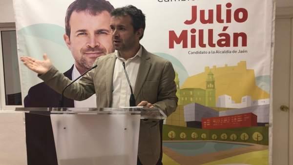 Jaén.- 26M.- Millán (PSOE) critica que la Ciudad de la Justicia vaya a terminar