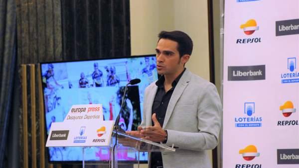 Alberto Contador, desayunos deportivos