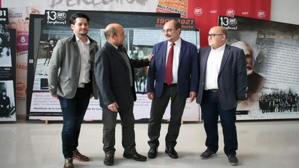 Lambán dice que si no se recupera el diálogo social a través de los sindicatos e