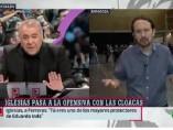 bronca entre Iglesias y Ferreras
