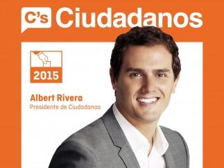Cartel de Ciudadanos para las elecciones de 2015