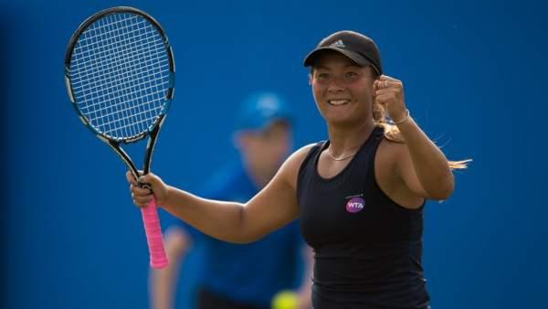 La tenista británica Tara Moore.