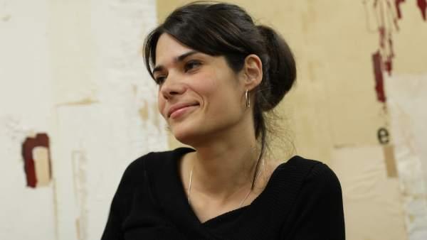 La candidata de la coalición, Isa Serra.
