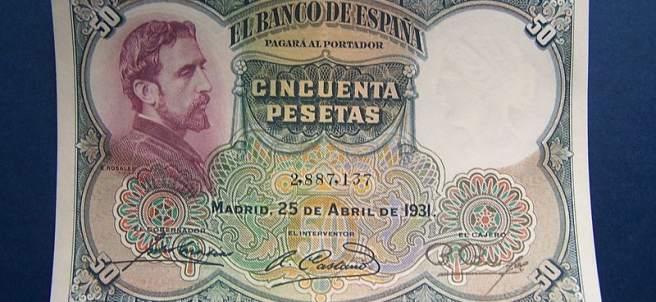 Billete de 50 pesetas II república