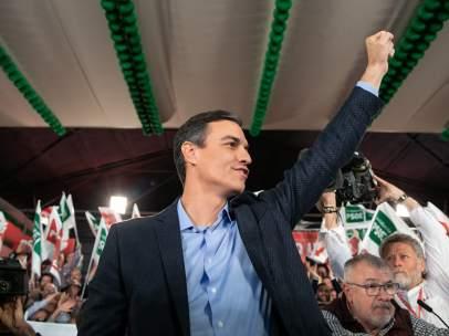 Pedro Sánchez, en el inicio de la campaña