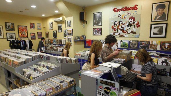El interior de la tienda Escridiscos