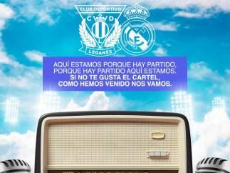 Cartel del CD Leganés