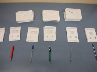 Papeletas de votaciones del referéndum del 1-O.