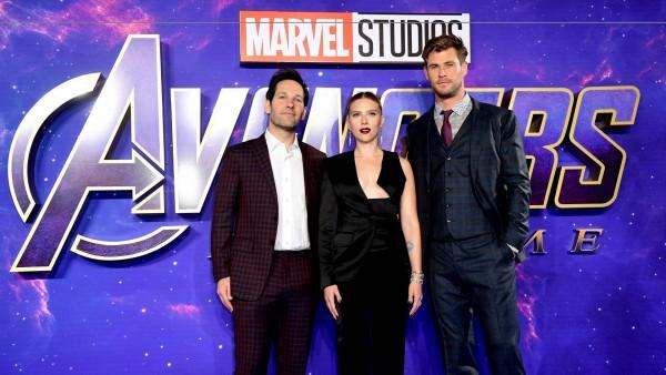 Paul Rudd, Scarlett Johansson y Chris Hemsworth