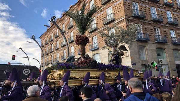 Uno de los pasos de la procesión de Los Salzillos