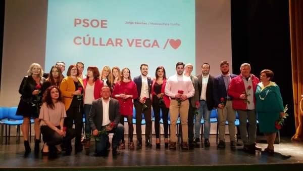 Granada.- 26M.- PSOE de Cúllar Vega presenta una candidatura 'cercana y participativa' para las elecciones municipales