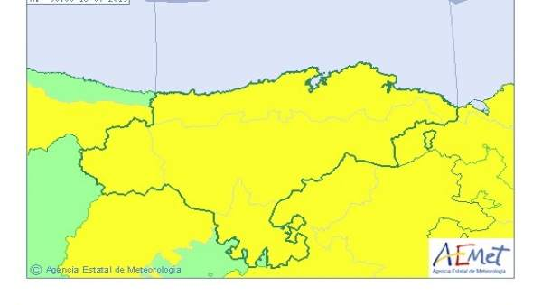 Cantabria estará este lunes en aviso por tormentas y lluvias