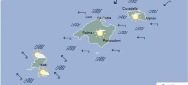 Predicción meteorológica para lunes 15 de abril de marzo en Baleares: nubes medias y altas