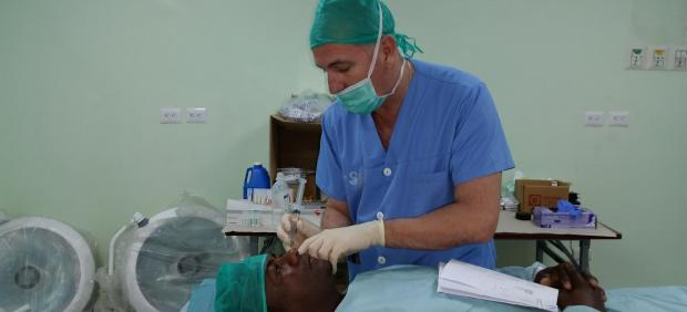 Operación, médico, quirófano, oftalmología