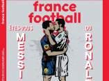 El beso de Messi y Cristiano en FF